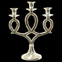Kandelaar Acheron aluminium 3 kaarsen 34x17x44cm. 2 stuks