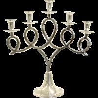 Kandelaar Acheron aluminium 5 kaarsen 55x20x58cm. 2 stuks