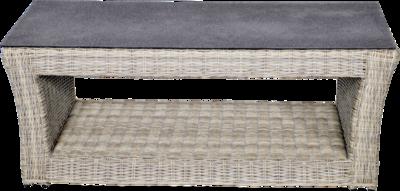 Loungetafel Aura , grijs wicker