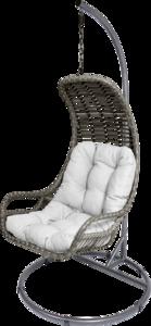 Hangstoel Relax Grizzly, grijs, incl. stalen frame, 103 x 205 cm