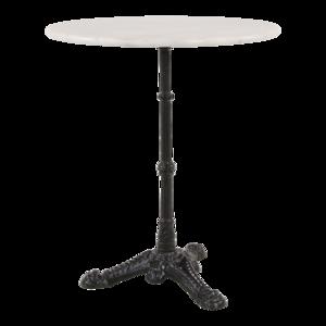 Wit marmeren tafel, diameter 60 cm, hoogte 73 cm