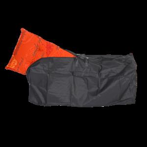 Beschermhoes voor stoelkussens, zwart, lengte 125 cm, breedte 50 cm, hoogte 32 cm