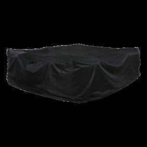 Beschermhoes zwart, lengte 300 cm, breedte 250 cm, hoogte 100 cm