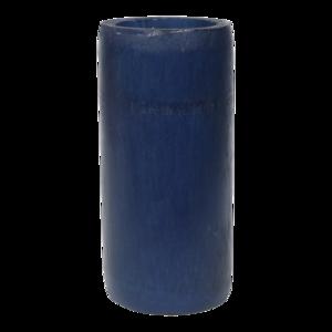 Kaarshouder bamboe blauw doorsnede: 8x16cm. 12 stuks in doos