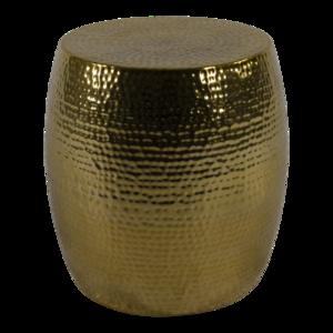 Bijzettafel / hocker goud 36x35,5cm