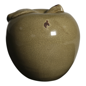 Appel keramiek oud beige 14cm, 4 stuks