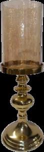 Kaarsenstandaard Aurum goud glas 15x43cm