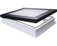 DEF DU6 100x150 Platdakraam, elektrisch, 3-voudig glas, incl. kettingmotor, voeding, regensensor en afstandbediening
