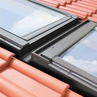 KHV1-P 13 78x160 Linker koppelgootstuk voor een horizontale combinatie voor geprofileerde dakbedekking tot 90mm profielhoogte, loodslabbe, koppelafstand 100mm