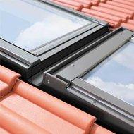 KHV3-P 13 78x160 Rechter koppelgootstuk voor een horizontale combinatie voor geprofileerde dakbedekking tot 90mm profielhoogte, loodslabbe, koppelafstand 100mm